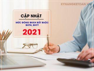 Cập nhật mức đóng BHXH bắt buộc, BHTN, BHYT 2021